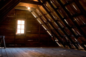 Roof inspection includes the attic